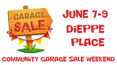 Garage Sale weekend July 7 - 9